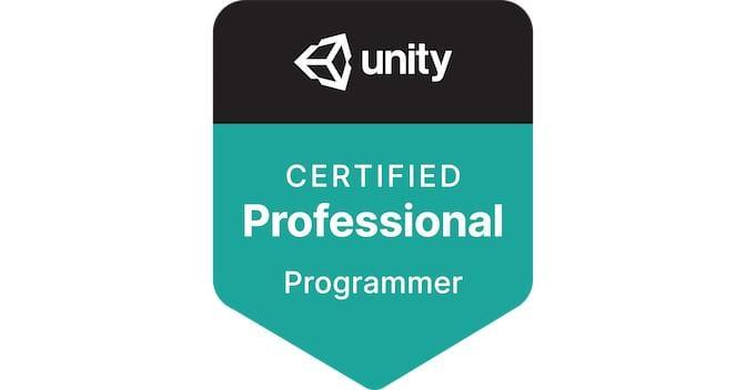 Unity certified professional programmer digital badge